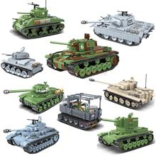 World War 2 WW2 Soldiers Main battle tanks Armored Vehicle Military SWAT Army Building Blocks Figures Toys birthday present trumpeter rising soviet t 62 main battle tanks in 1962 00376