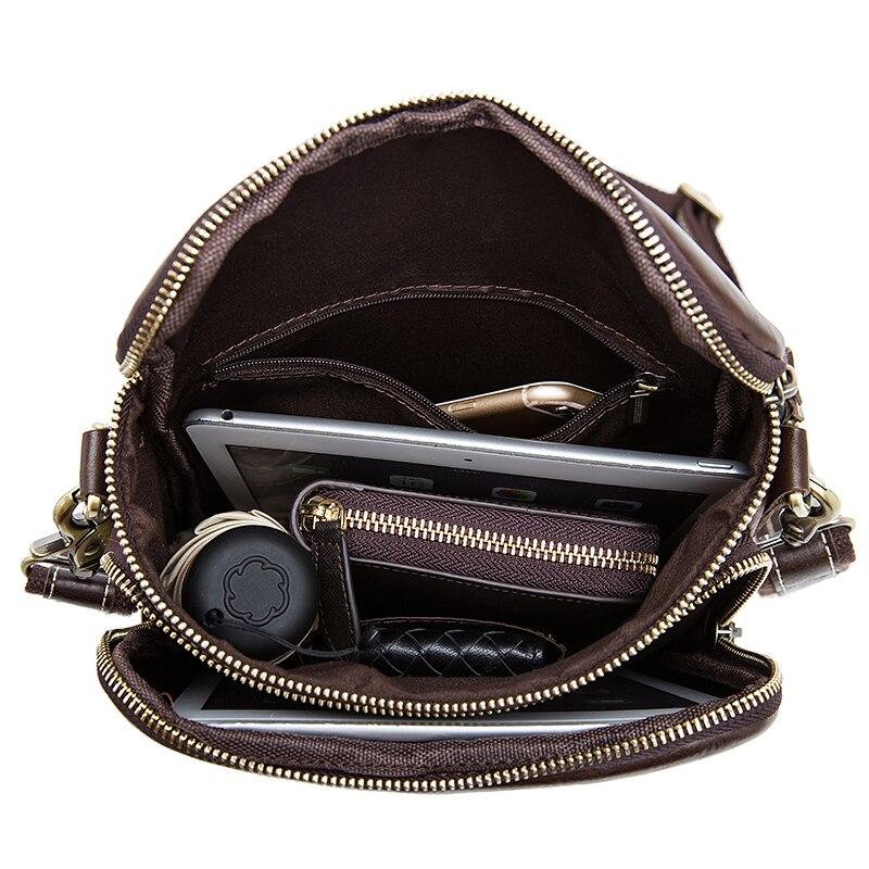 Image 5 - WESTAL Clearance Shoulder Bags for Men Bag Genuine Leather Men Messenger Crossbody Bags Male Flap Man Handbags Leather 8003Crossbody Bags   -