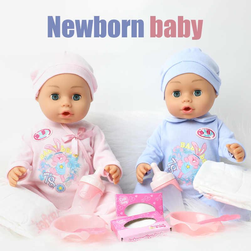 46 ซม.DIYเหมือนจริงBebe Rebornตุ๊กตาจำลองทารกแรกเกิดตุ๊กตาสาว 18 นิ้วซิลิโคนการศึกษาของเล่นสำหรับของขวัญเด็ก