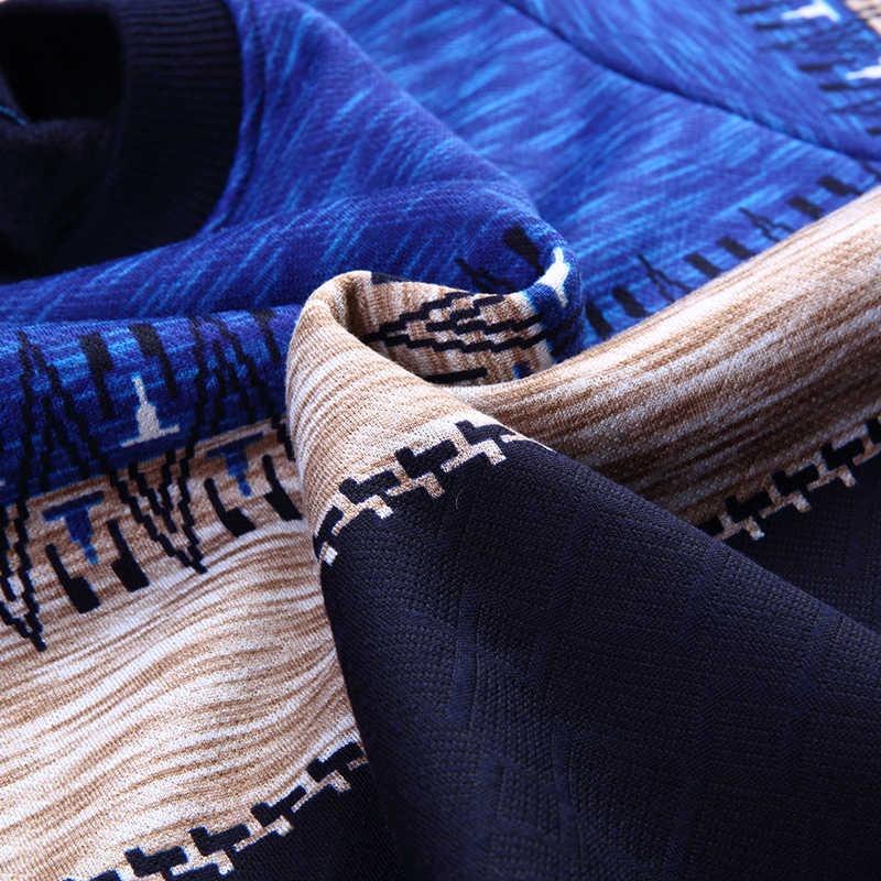GAAJ 2019 marke casual herbst winter warme pullover gestrickte striped männlich pullover männer kleid dicke herren pullover jersey kleidung