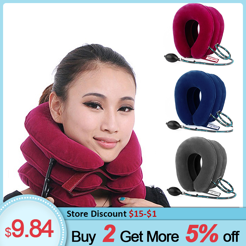 Inflatable Cervical Collar Vertebra Traction Orthopedics Neck Corrector Support Medical Therapy Cervical Collar Neck Stretcher