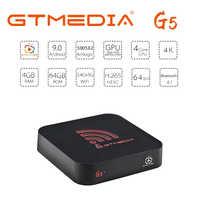 GTmedia G5 new Android 9.0 IPTV subscription M3U Smart TV BOX S905X2 support 2.4G/5G WIFI 4GB 64GB media box Set-Top Box