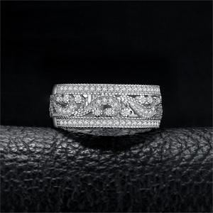 Image 2 - JewelryPalace CZ anillos de boda 925 anillos de plata esterlina para mujeres apilable anillo aniversario anillo eternidad banda joyería de plata 925