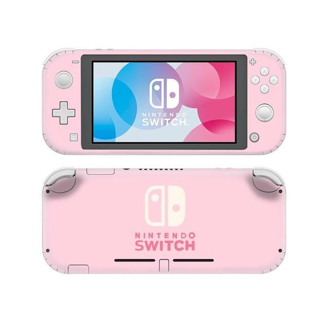 Однотонная розовая наклейка для Nintendo Switch, наклейка для Nintendo Switch Lite, Защитная Наклейка для Nintendo Switch Lite