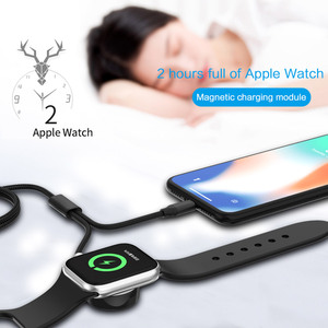 Image 5 - For Apple iWatch 1 2 3 4 5 Watch Wireless Charger Stand Dock Fast Wireless Charging Base Portable Charging Cable For iPhone