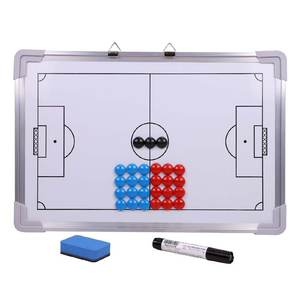 Coaching-Board Soccer Marker Magnetic Handheld with Eraser Hanging Competition Double-Sided