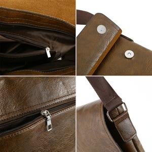 Image 5 - Fashion Mens Handbag Male PU Leather Messenger Bags for Man Casual Business Vintage Crossbody Bag