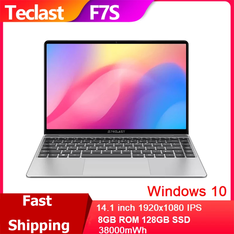 Teclast F7S Dual Wifi Laptop 14 1 inch  8GB RAM 128GB SSD Windows 10 Notebook PC 1920x1080 IPS Intel Apollo Lake N3350 Computer