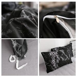 Image 5 - Frigg プリント大理石寝具セット白黒布団カバー王クイーンサイズのキルトカバー簡単な寝具布団カバー 3 個 2 個