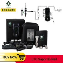 LTQ Vapor IE Nail Temperature Control Wax Dry Herb Kit Dab Rig Heat Coil with Quartz Nail Dry Herb Nail fit Glass Water Bubbler