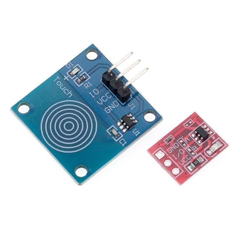Image 4 - 100 шт. TTP223 сенсорный ключ модуль переключателя сенсорная кнопка самоблокирующийся/без блокировки емкостные переключатели одноканальный реконструкция-in Интегральные схемы from Электронные компоненты и принадлежности on AliExpress