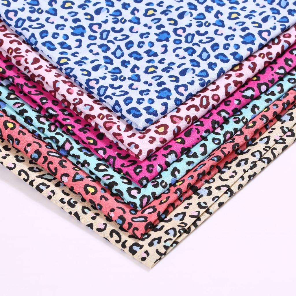 50*147 см леопардовая чернильная печать 100% полиэфирная ткань для тканей детский домашний текстиль для шитья мультяшная саржевая ткань, c12286