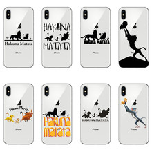 Lion King Pumba Hakuna Matata For iPhone SE S 5 6 6S 7 8Plus Max XS XR X10 Soft silicone cover