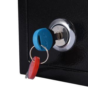 Image 3 - Abschließbar Langlebige Starke Hohe Sicherheit Stahl kleinen Safe Schlüssel Betrieben Geld Bargeld Lagerung Hause Büro