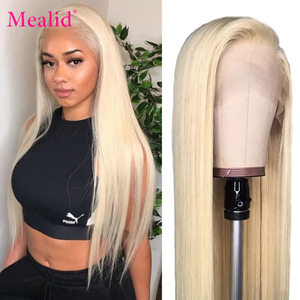 Glueless 613 Blonde Lace Front Wigs Remy Brazilian Straight Hair Lace Front Human Hair Wigs 13x4 Pre Plucked With Baby Hair 150%(China)