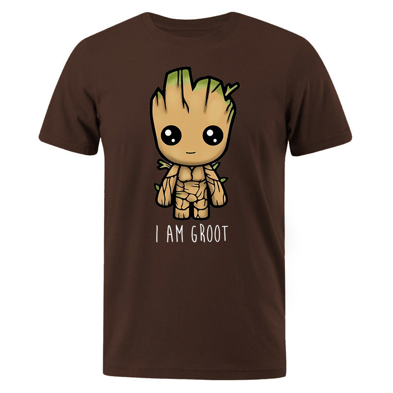 I Am Groot Cotton T Shirt Men Casual Hip Hop Men's T-shirts Streetwear Male T-Shirt Cute Print Groot Summer Man Brand Tops Tees
