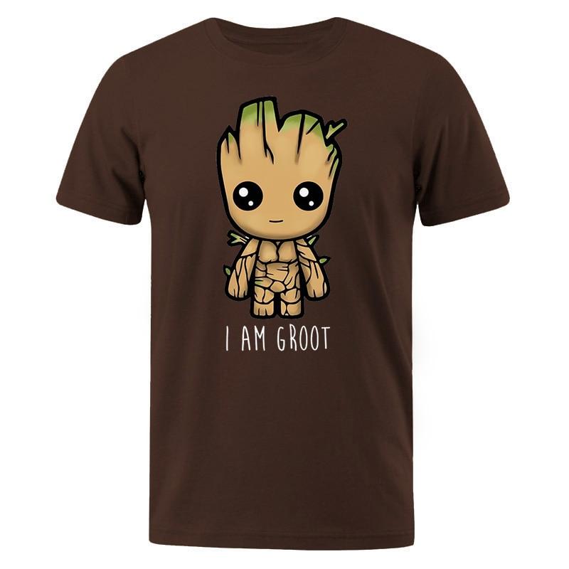 I Am Groot Cotton T Shirt Men Casual Hip Hop Men's T-shirts Streetwear Male T-Shirt Cute Print Groot Summer Man Brand Tops Tees