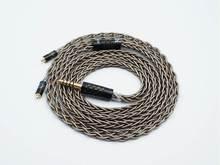 Isn áudio ag8 flagship 8 fios de alta pureza prata alta fidelidade audiophile iem fone ouvido cabo