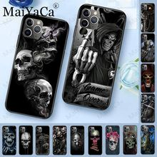 MaiYaCa Grim Reaper Skull Skeleton Luxury Hybrid phone case for iPhone 6S 6plus 7 7plus 8 8Plus X XS MAX XR 5 5S 11pro max case black with white moon stars space astronaut phone case shell for iphone 6s 6plus 7 7plus 8 8plus x xs max 5 5s xr 11pro max