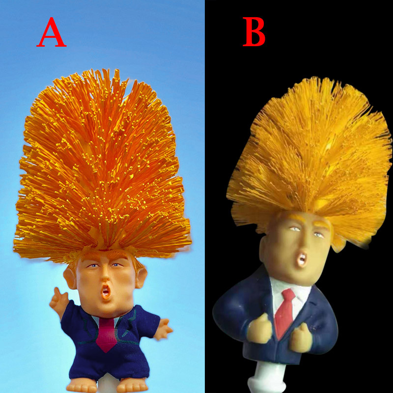 1 Pcs Donald Trump Custom Painted BristlesToilet Bowl Brush Funny Gift Toilet Slot In Handle For Easy Hanging BV789