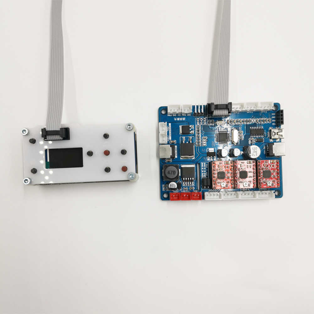 DIY CNC gravür GRBL denetleyici kiti ahşap Router lazer oyma makinesi kontrol bileşeni mili step motor için cnc3018