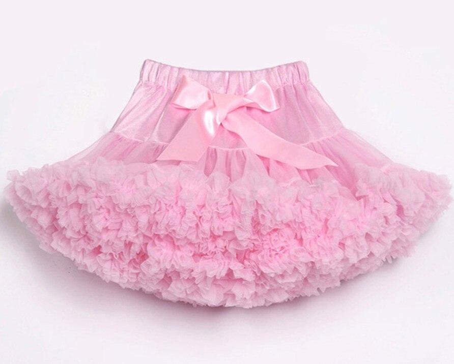 Юбка-пачка для малышей шифоновая юбка-пачка для девочек, детские юбки-американки, юбка для танцев Одежда для мамы и дочки - Цвет: Розовый