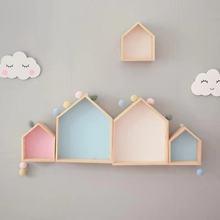 High Quality Wall Wooden Shelf Kids Room Nursery Decoration Shelf Wood Children Boy Girl