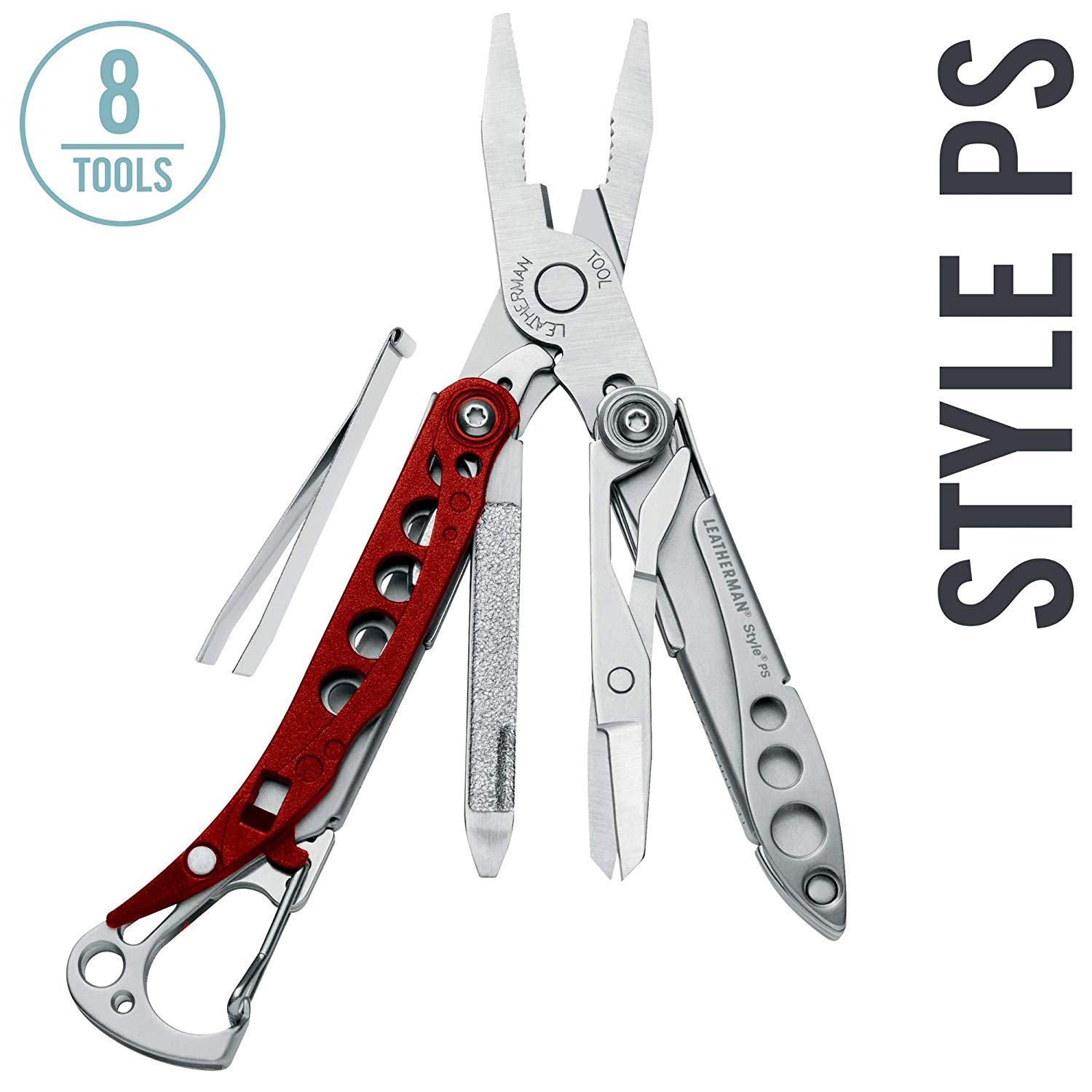 LEATHERMAN - Style PS Keychain Multitool With Spring-Action Scissors And Grooming Tools