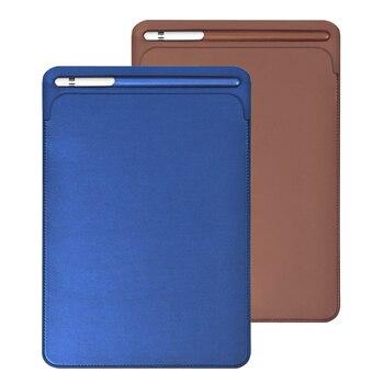 Новый кожаный чехол с отделением для карандашей, для Apple iPad Pro 9,7, 10,2, 10,5, 11 дюймов, чехол для iPad Air 3