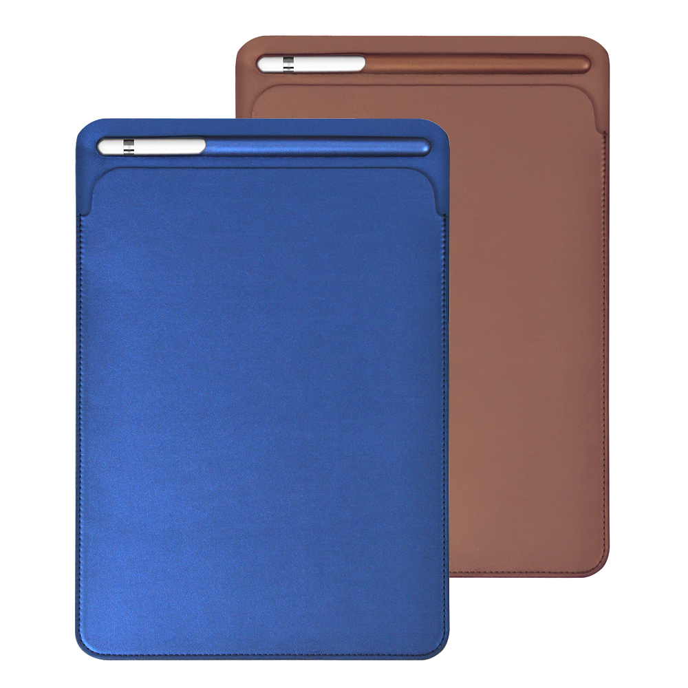New sleeve leather case with a pencil slot design   for Apple  iPad Pro 9.7   10.2  10.5   11 inch  Cover for iPad Air 3|case for ipad|case for ipad pro|sleeve case for ipad - title=