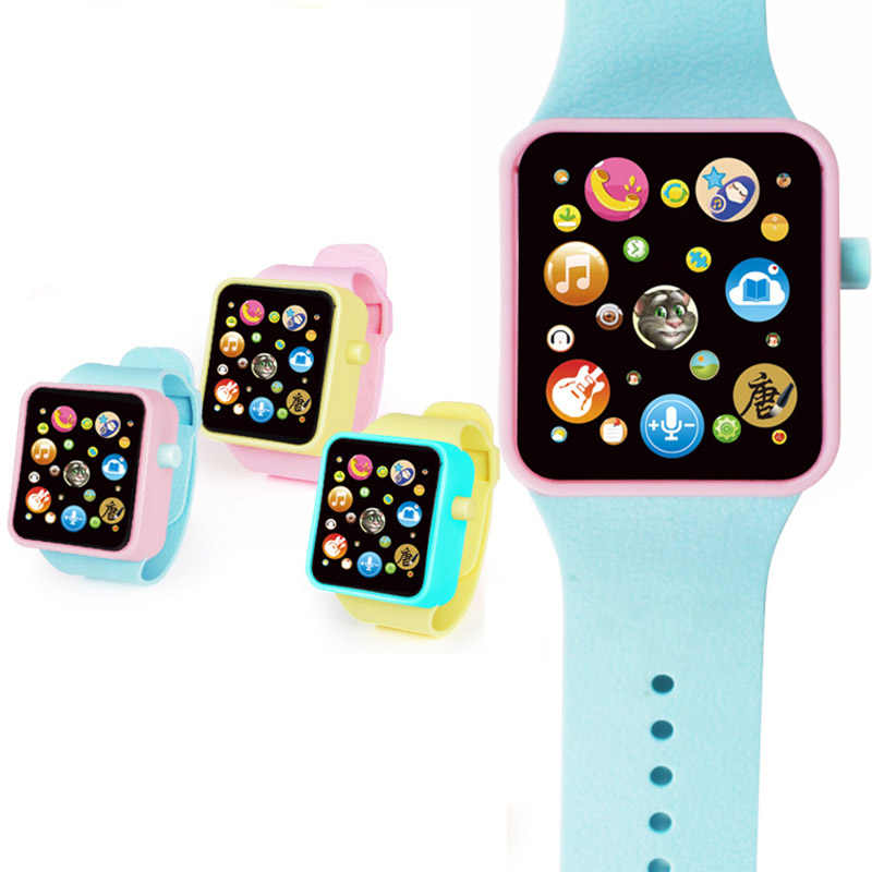 6 colors Children Kids Early Education Toy Wrist Watch 3D Touch Screen Music Smart Teaching Baby Hot Selling Birthday Gifts