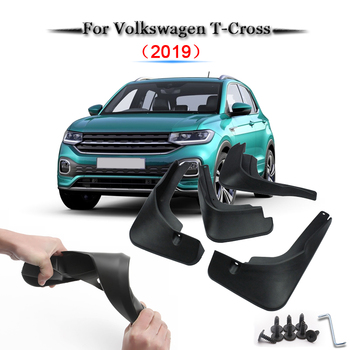Car Styling ABS Car Mud Flaps Splash Guard Mudguard Mudflaps Fender External Cover Car Accessories For Volkswagen T-Cross 2019
