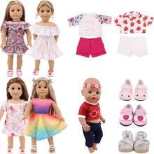 Новое Кукольное платье короткий костюм для 18 дюймов американская