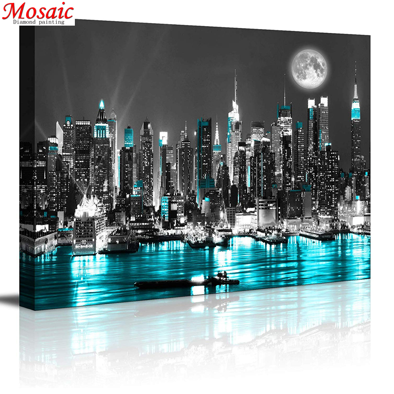 5D Diamond Painting Embroidery Picture Handicraft-Art-Kits City-Landscape Home-Decoration title=