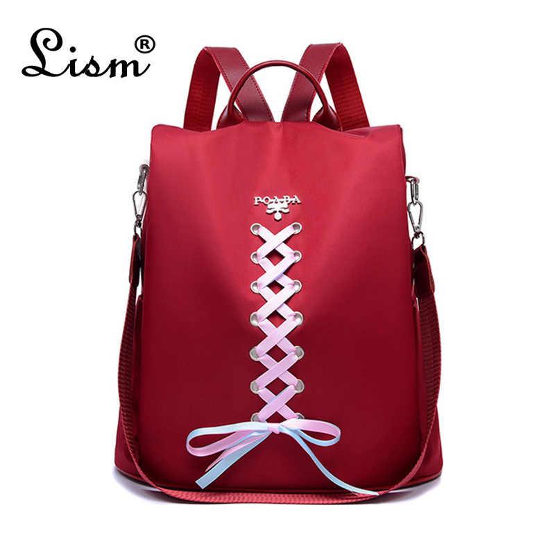 2019 Famous Brand Anti Theft Backpacks Bow Ribbon Rucksack Women Bag Pack Teenager Girls Shoulder School Bag mochila mujer