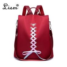 2019 Famous Brand Anti Theft Backpacks Bow Ribbon Rucksack Women Bag