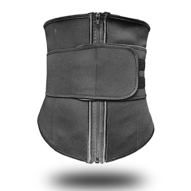 S-6XL Abdominal Belt 7 Steel Boned High Compression Zip Neoprene Waist Cincher Sauna Corset Sweat Waist Trainer Body Shaper 2