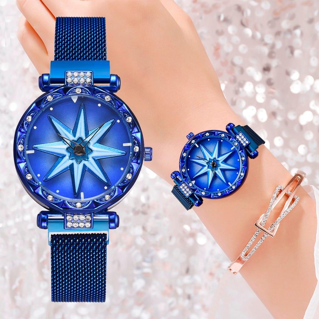 New Brand Women Watch Fashion Elegant Magnet Buckle Rhinestone Ladies Wristwatch Luxury Quartz Watches Zegarek Damski Clock #W
