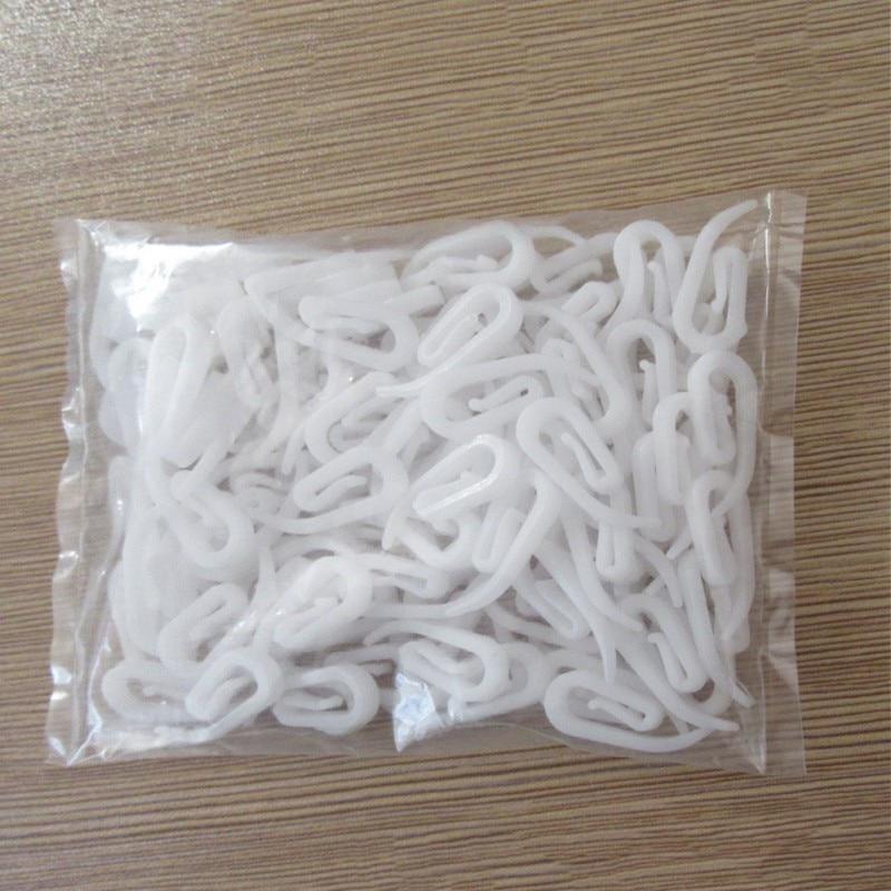 100PCS/ Bag White Hanging Curtain Hooks Curtain Accessories Porcelain