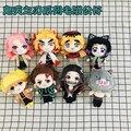 Demon Slayer: Kimetsu no Yaiba Nezuko Tanjirou Douma Makomo Kochou Shinobu Cosplay Figure Cute Plush Dolls Stuffed Toy Gift 20CM