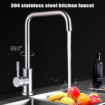Faucet Tap Stainless Steel Hot Cold Mixer 360 Degree Rotatable for Home Kitchen Sink B99