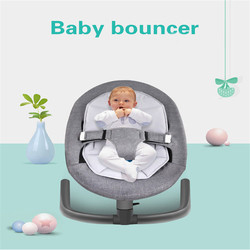 Baby Rocking Chair for  Aluminum Newborn Swing Bouncer Chair Infant Sleeping Basket Automatic Cradle for Toddler