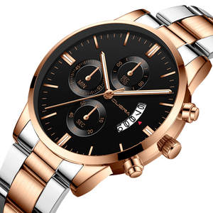 Luxury Watch Men CUENA Fashion Military Stainless Steel Analog Date Sport Watches Montre Quartz Wristwatches Relogio Masculino