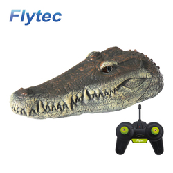 RC Boat toys Simulation Crocodile Head Joke Alligator Decoy Pond Float Simulation Doll Garden Remote Control Toys Spoof Toys gif