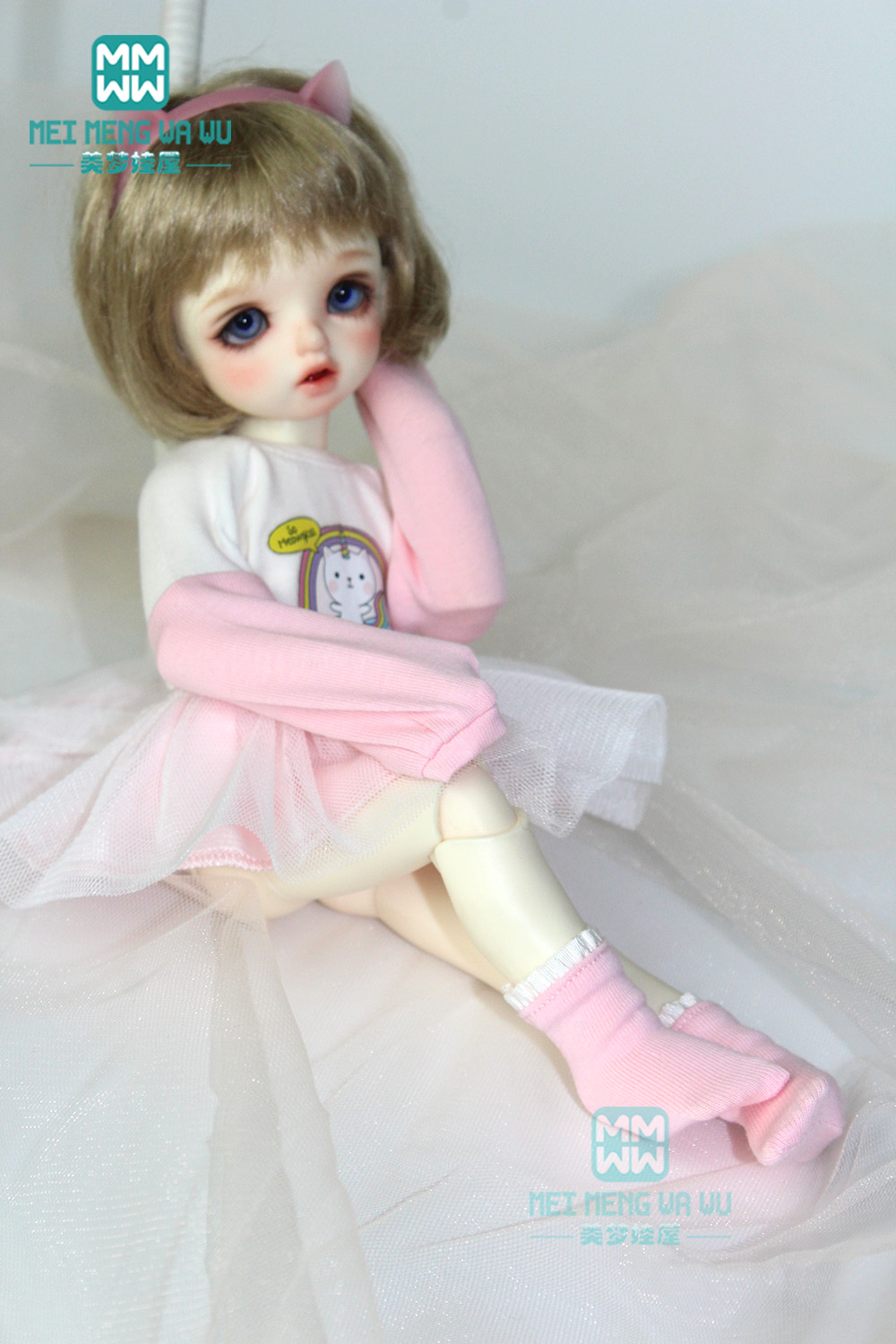 BJD Dolls Accessories Clothes For Dolls Fits 27cm-30cm 1/6 YOSD MYOU Bjd Dolls Fashion Wearing Jumpers, Yarn Skirt, Socks