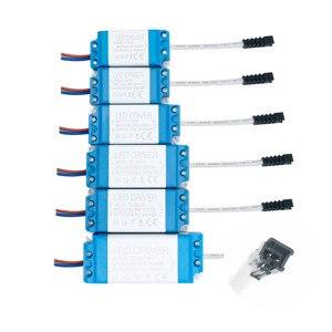 Image 3 - 1w 36w leds driver com 5.5*2.1mm fêmea conector fonte de alimentação corrente constante 300ma iluminação transformadores para led luz tira
