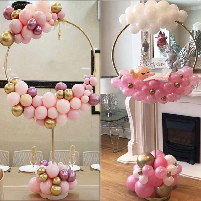 Okrągły balon stojak łuk balony wieniec pierścień do dekoracji ślubnych baby shower dzieci przyjęcia urodzinowe Christmas Ballon garland