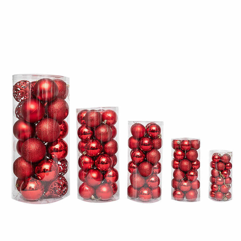 24pcs Kerstboom Decor Bal Snuisterij Xmas Party Opknoping Bal Ornament decoraties voor Huis kerstversiering Gift
