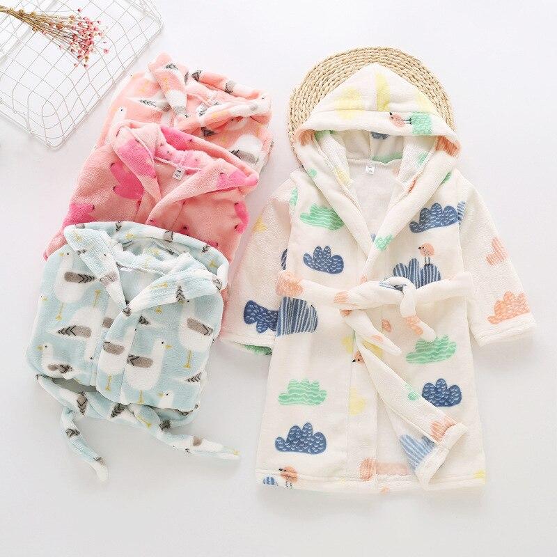 CHILDREN'S Bathrobes Autumn And Winter Tracksuit Pajamas Children Flannel BOY'S Women's Jimo Childrenswear