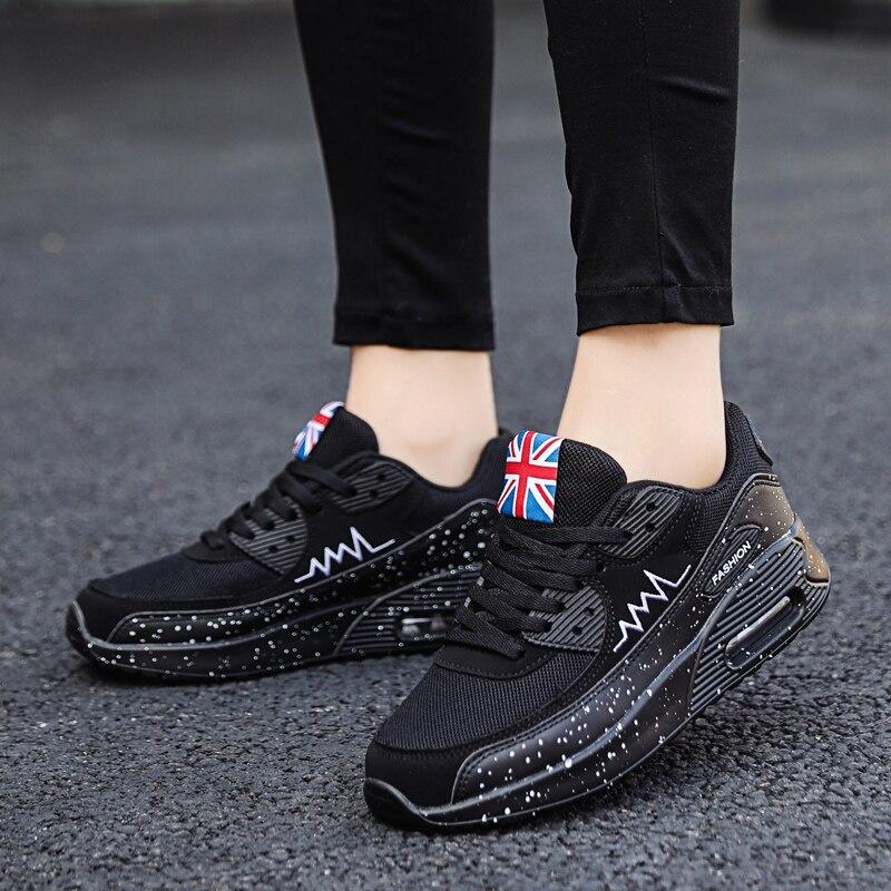 Image 2 - Женские кроссовки из сетчатого материала; модная обувь на плоской подошве с воздушной подушкой; женские кроссовки на толстой платформе; повседневная обувь; Zapatos De Mujer; Новинка; Лидер продажКроссовки и кеды   -